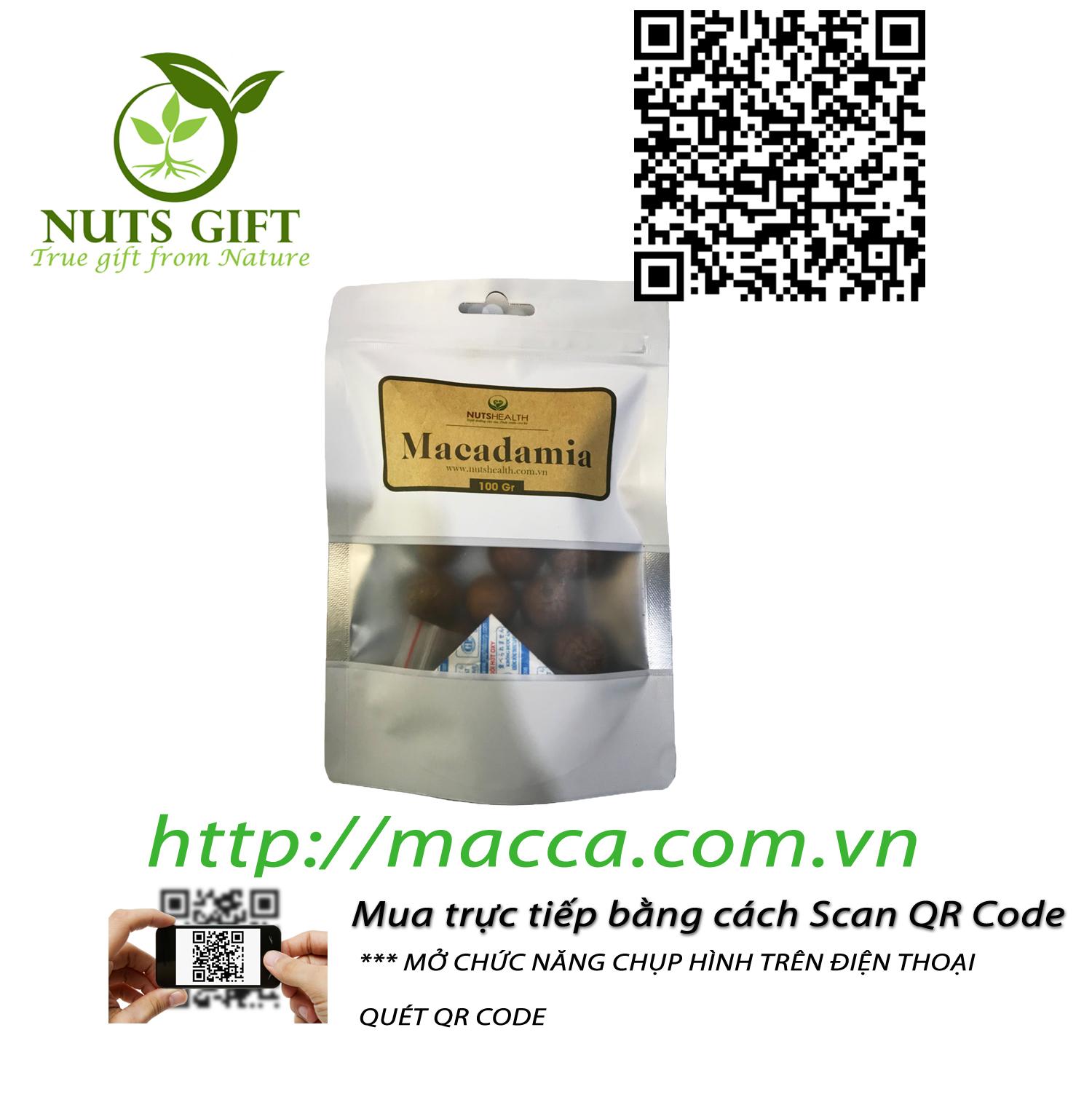 HẠT MẮC CA MACCA ÚC – NUTSHEALTH – 100 GR