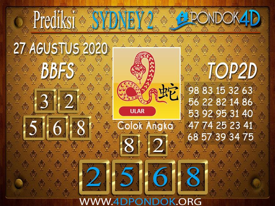 Prediksi Togel SYDNEY 2 PONDOK4D 27 AGUSTUS 2020