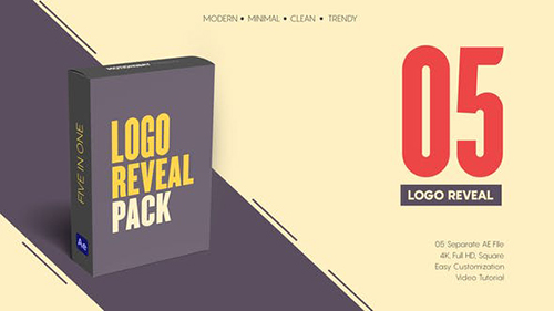 Minimal Logo Reveal Pack 32861753 - Project for After Effects (Videohive)
