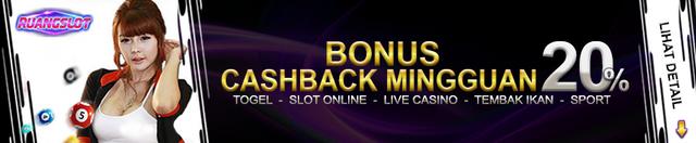 Bonus cashback mingguan 20%