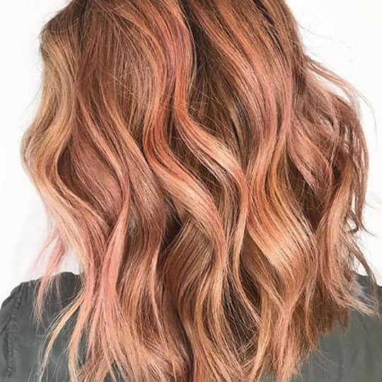 Reddish-strawberry-styled-hair