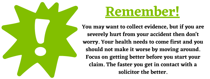 evidence for personal injury claims