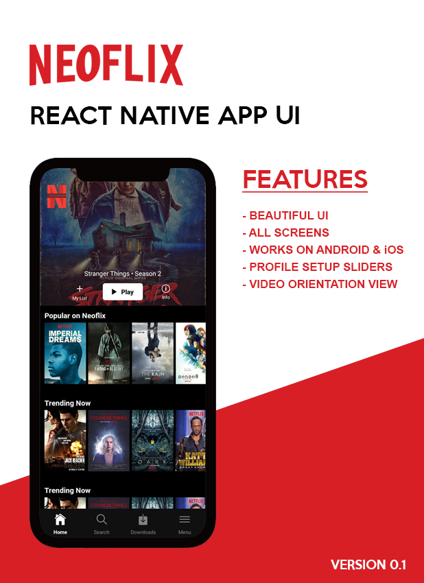 Neoflix React Native Theme - 1