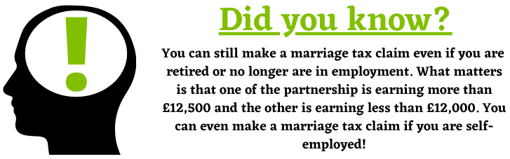 Marriage Tax Claims Retirement