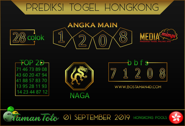 Prediksi Togel HONGKONG TAMAN TOTO 01 AGUSTUS 2019