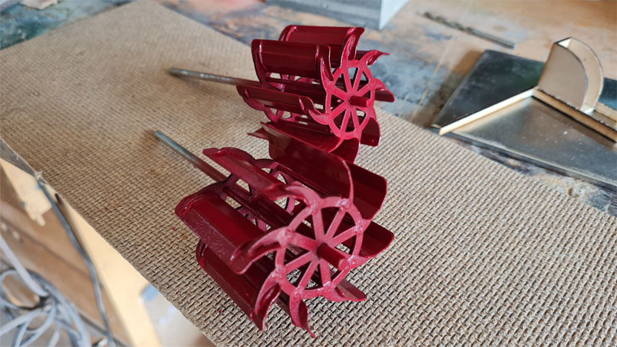 Laser cutter software Paddle-wheels