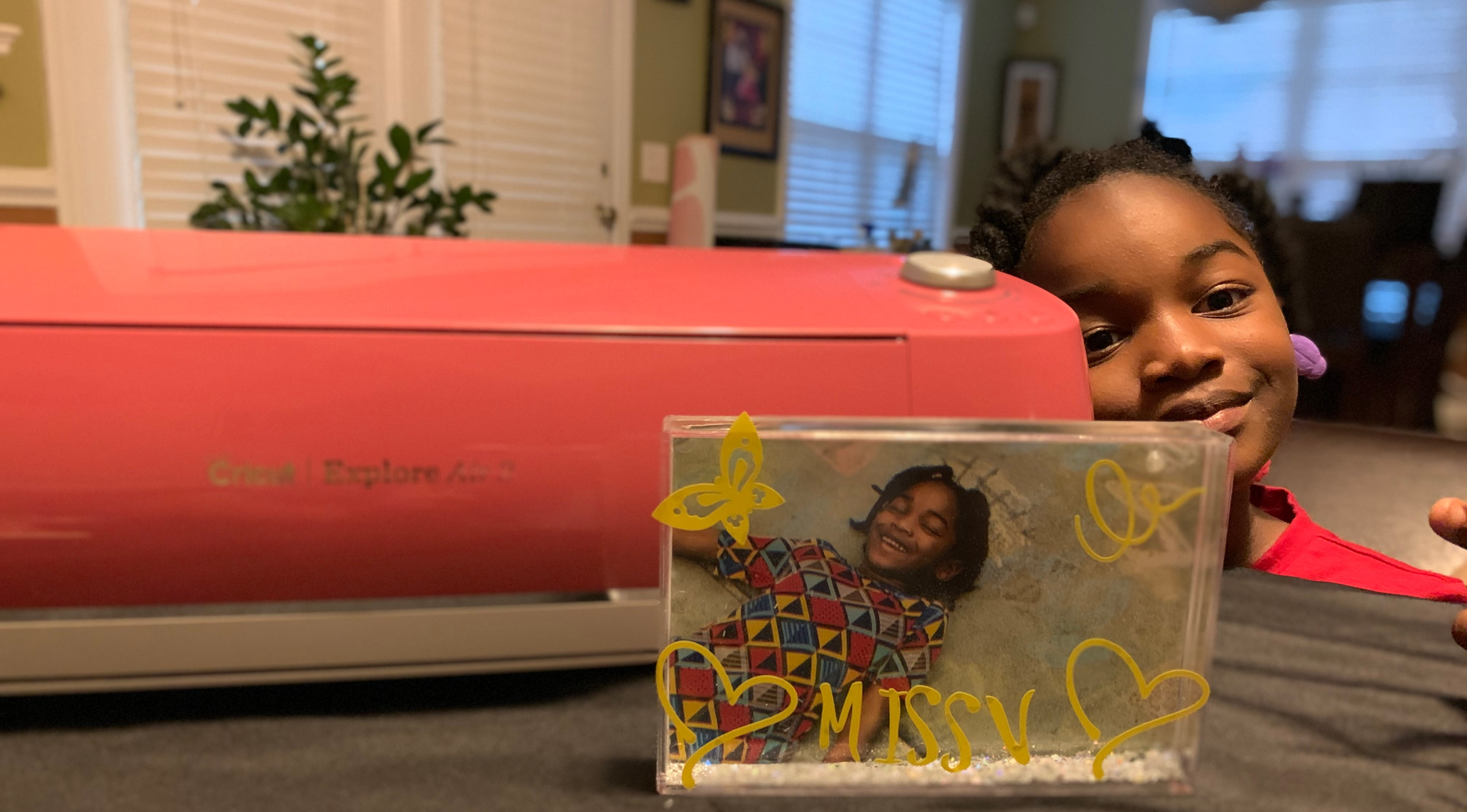 She is super excited about creating new projects with our Cricut Explore Air2