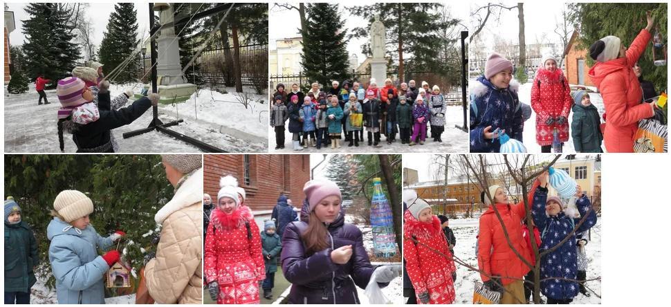 22 ноября в воскресной школе при Смоленском храме г. Ивантеевка Королёвского благочиния после основных занятий состоялся урок на природе, который прошел в рамках экологической акции Накорми птицу зимой
