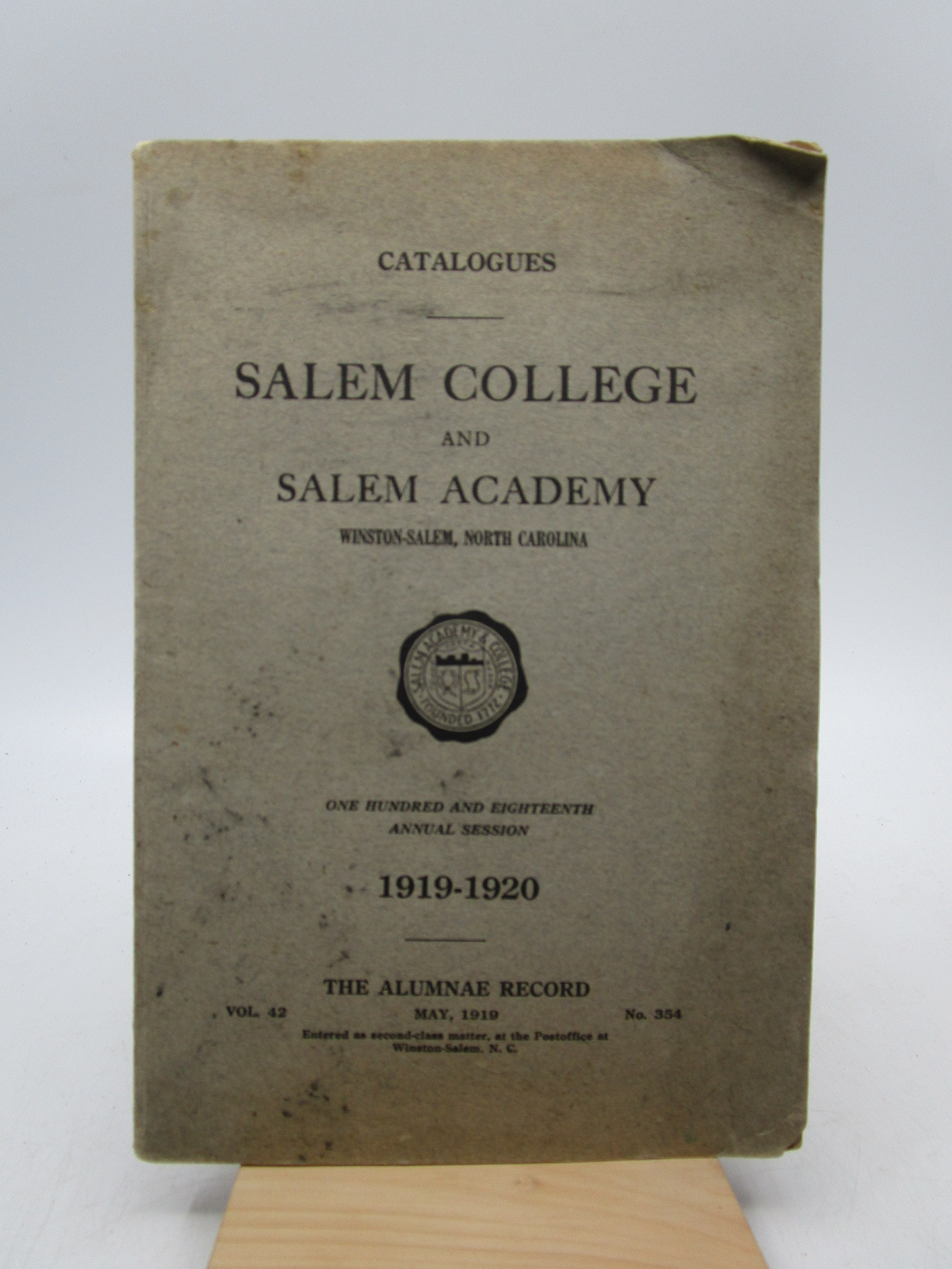 Image for Salem College and Salem Academy 1919-1920 (First Edition)
