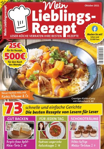 Cover: Mein Lieblingsrezept Magazin No 10 2021