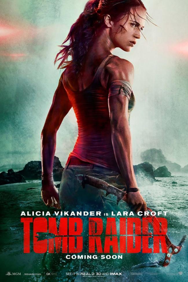 """Только взгляните на шею Алисии Викандер на постере к фильму """"Tomb Raider: Лара Крофт"""". Ну как можно было так налажать?"""