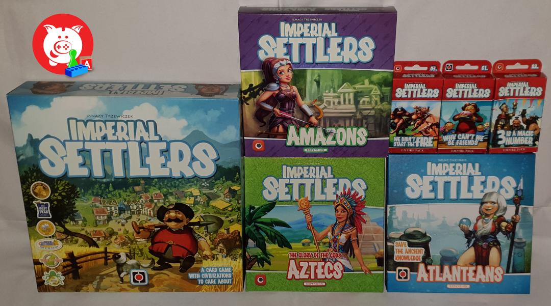Imperial Settlers wordt in het Nederlands uitgegeven door White Goblin Games, maar ik ben te ongeduldig om op de vertalingen te wachten.