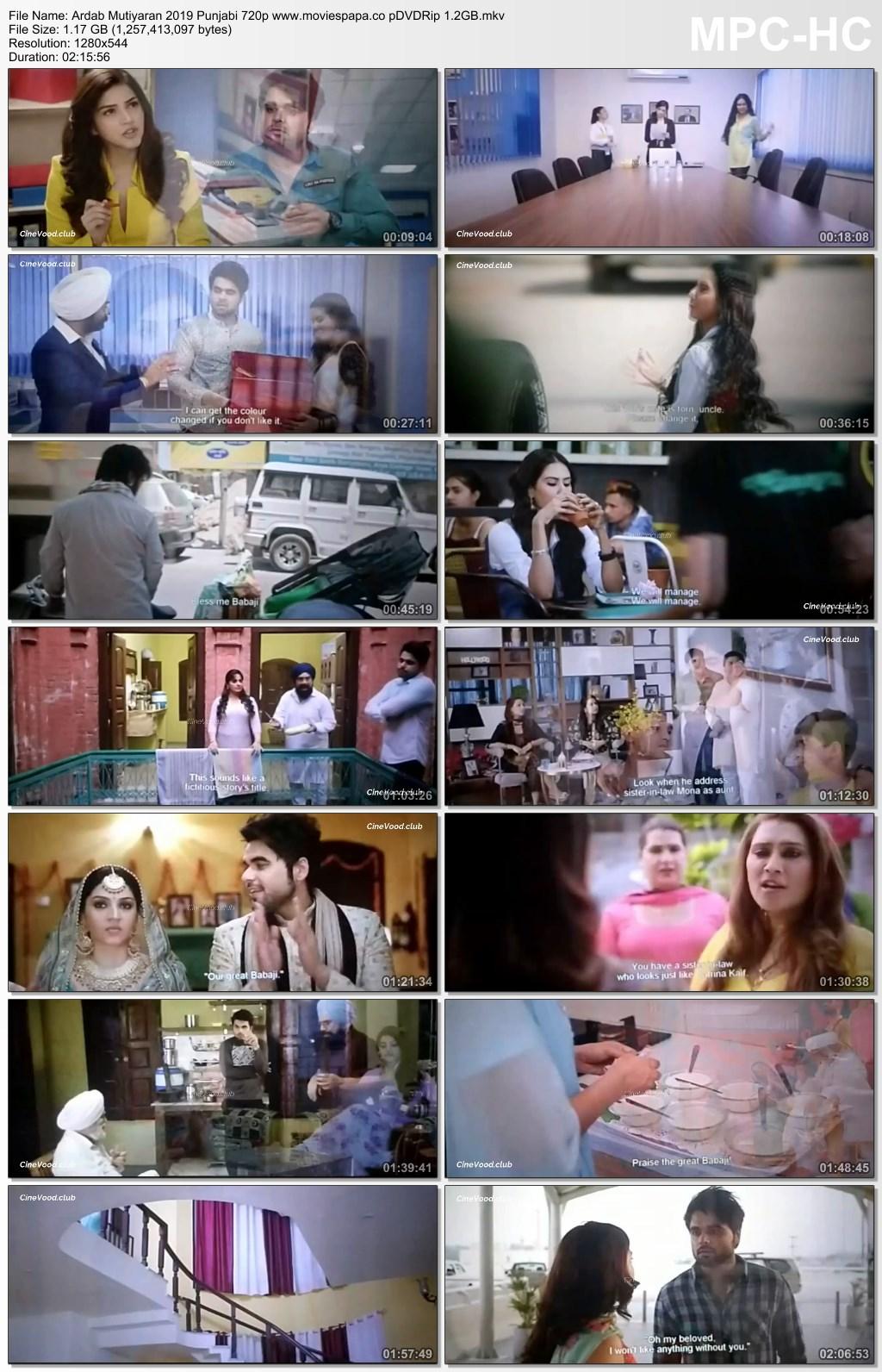 mkv movie 2019 Ardab Mutiyaran 2019 Punjabi 720p PDVDRip 12GB Download