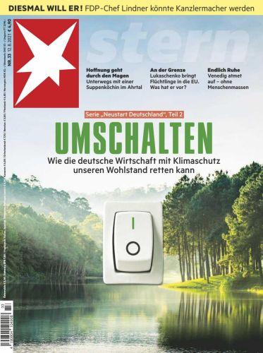 Cover: Der Stern Nachrichtenmagazin No 33 vom 12  August 2021