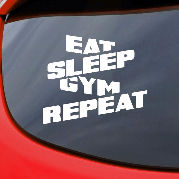 Eat Sleep Bodybuilding Vinyl Decal Sticker Car Truck Window