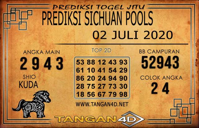 PREDIKSI TOGEL SICHUAN TANGAN4D 02 JULI 2020