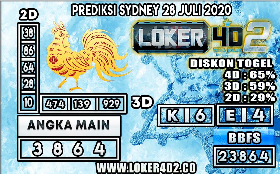 PREDIKSI TOGEL LOKER4D2 SYDNEY 28 JULI 2020
