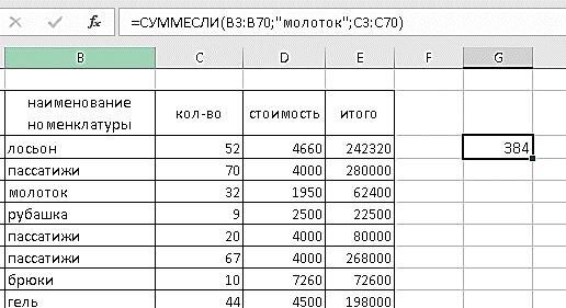 Sum Excel-4