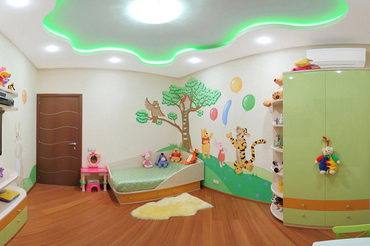 Какие натяжные потолки выбрать для детской комнаты в Сургуте?