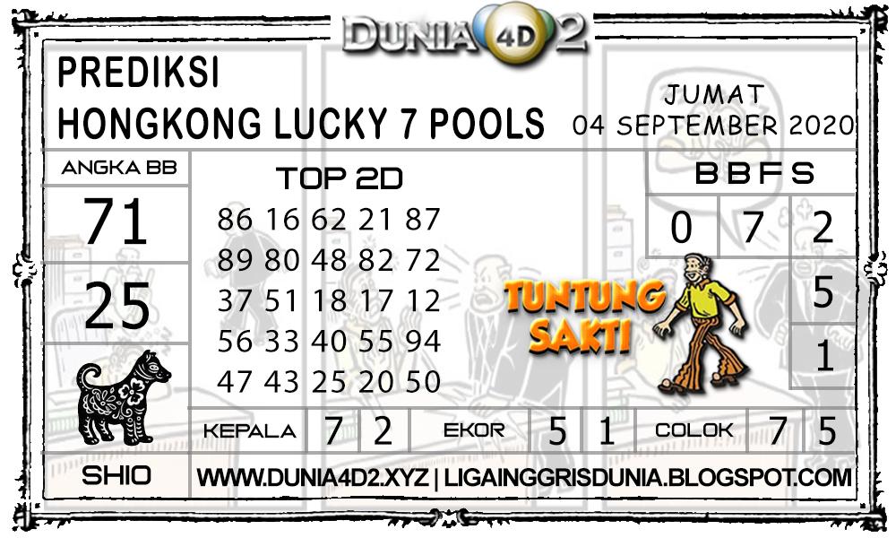Prediksi Togel HONGKONG LUCKY7 DUNIA4D2 04 SEPTEMBER 2020