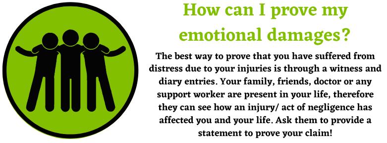 Proving your emotional damages