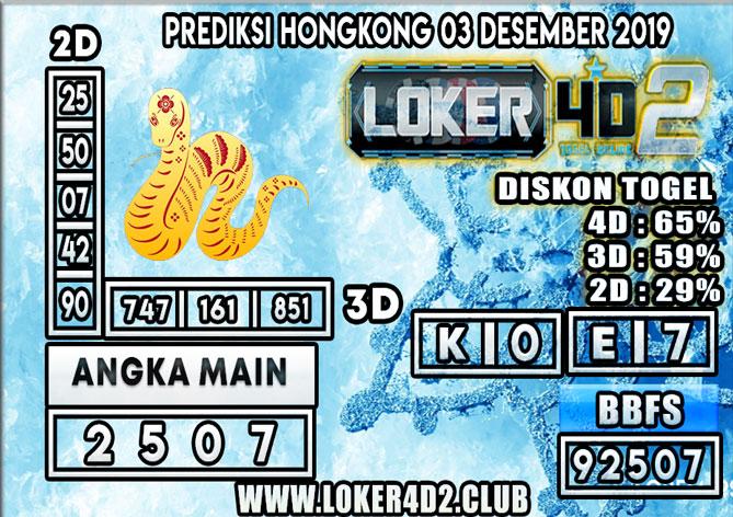 PREDIKSI TOGEL HONGKONG POOLS LOKER4D2 03 DESEMBER 2019