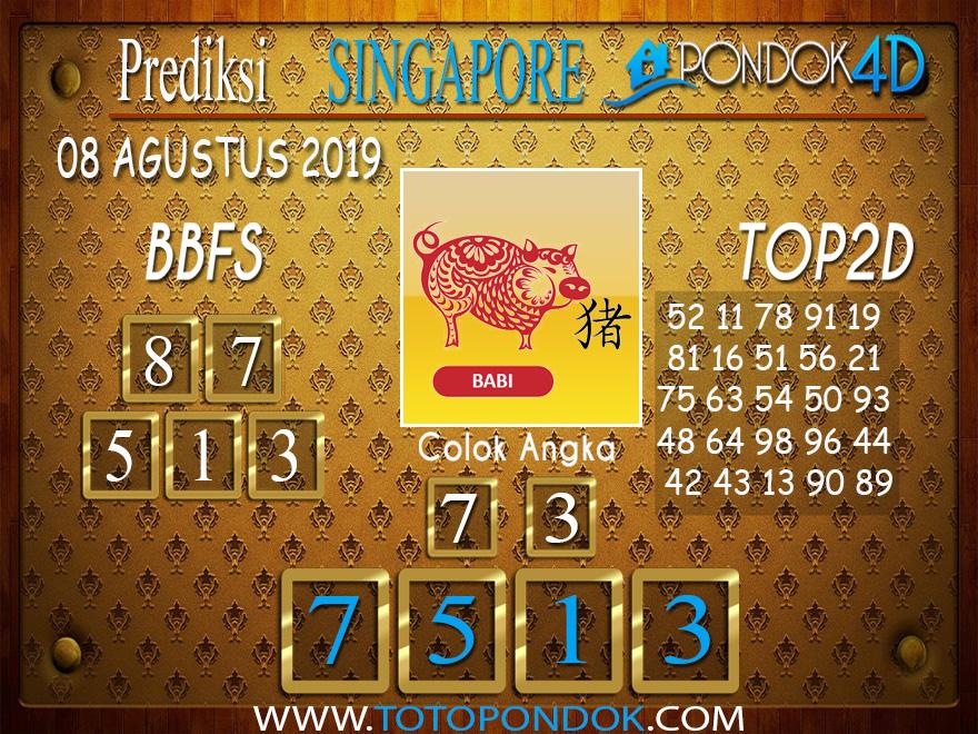 Prediksi Togel SINGAPORE PONDOK4D 08 AGUSTUS 2019
