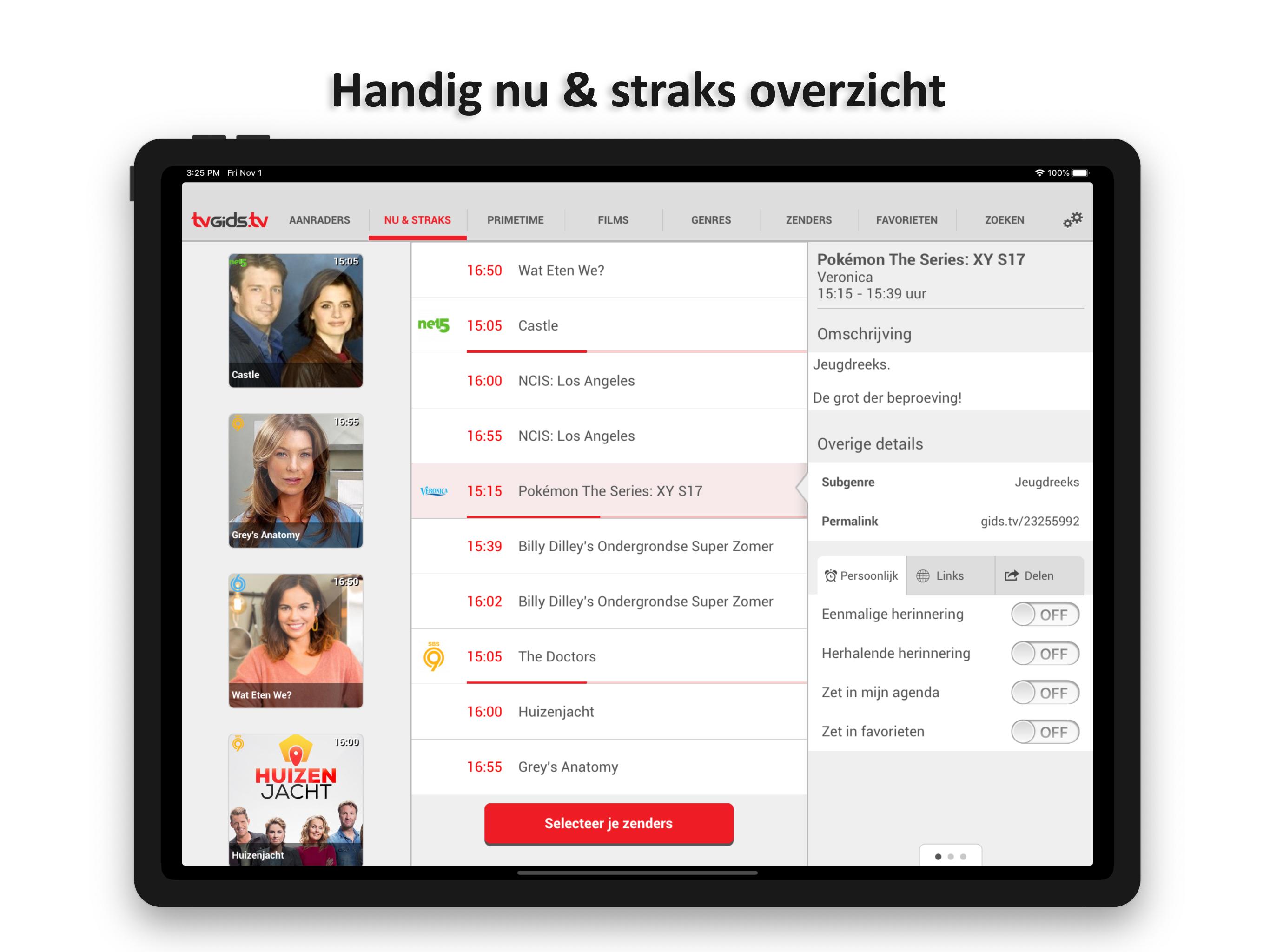Dit zijn de tv gids apps van Tvgids.tv