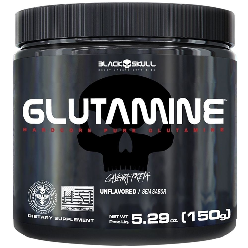 Glutamina Natural 150g BLACK SKULL