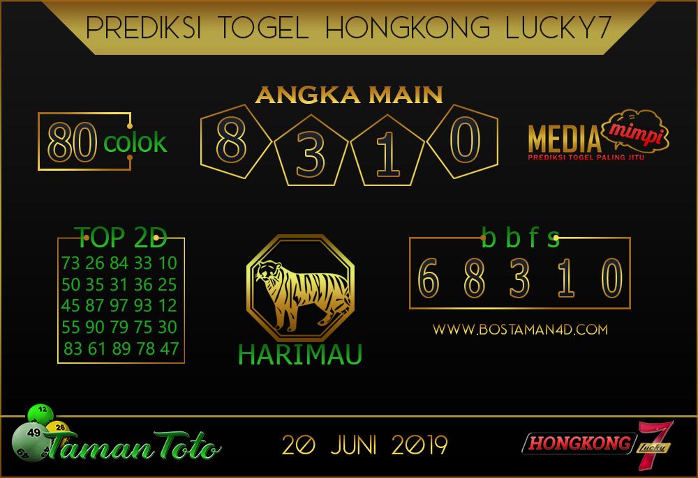 Prediksi Togel HONGKONG LUCKY 7 TAMAN TOTO 20 JUNI 2019