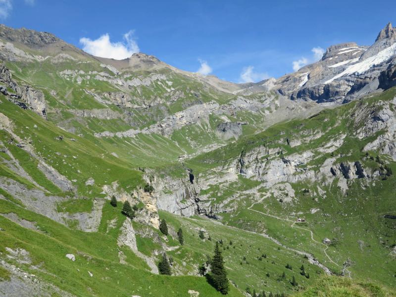 Descending hike trail