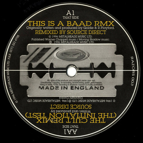 Goldie / Source Direct - This Is A Baad / The Cult (Remixes)