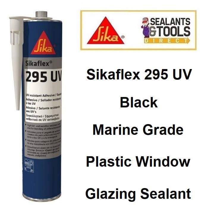 Sikaflex 295 UV Sika Marine Plastic Window Sealant BLACK 300ml 166791