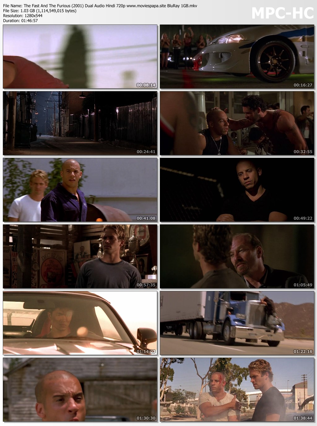 The Fast and the Furious 2001 screenshot HDMoviesFair