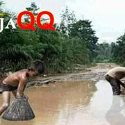 Viral Warga Sumsel Tangkap Ikan di Jalan Rusak foto itu diambil