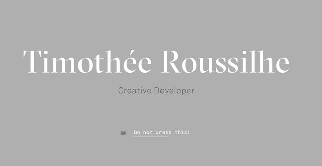 Timothee Roussilhe Website