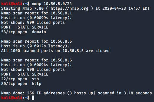 nmap scan result 1