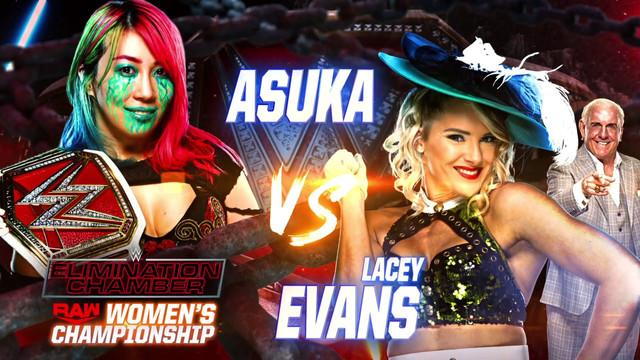 Elimination Chamber Asuka vs Lacey Evans RAW 8 Febrero