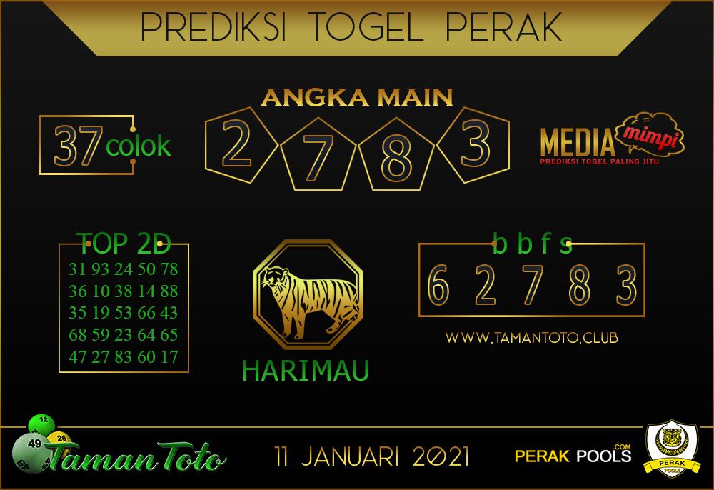 Prediksi Togel PERAK TAMAN TOTO 11 JANUARI 2021