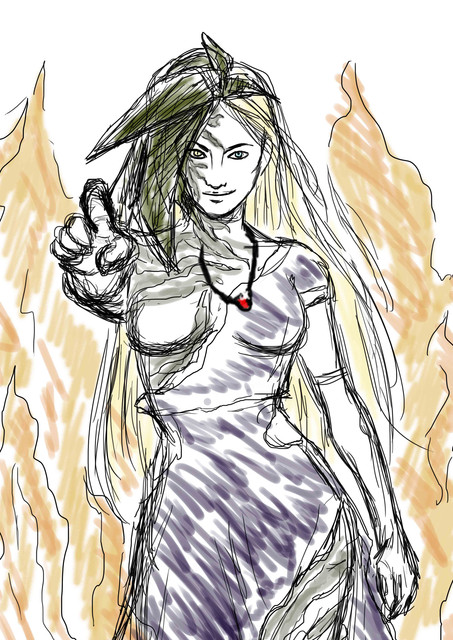 Alexia Ashford rough sketch1