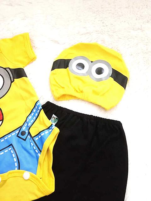 topi bayi minion iyab babywear
