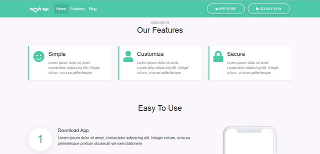 download template landing page