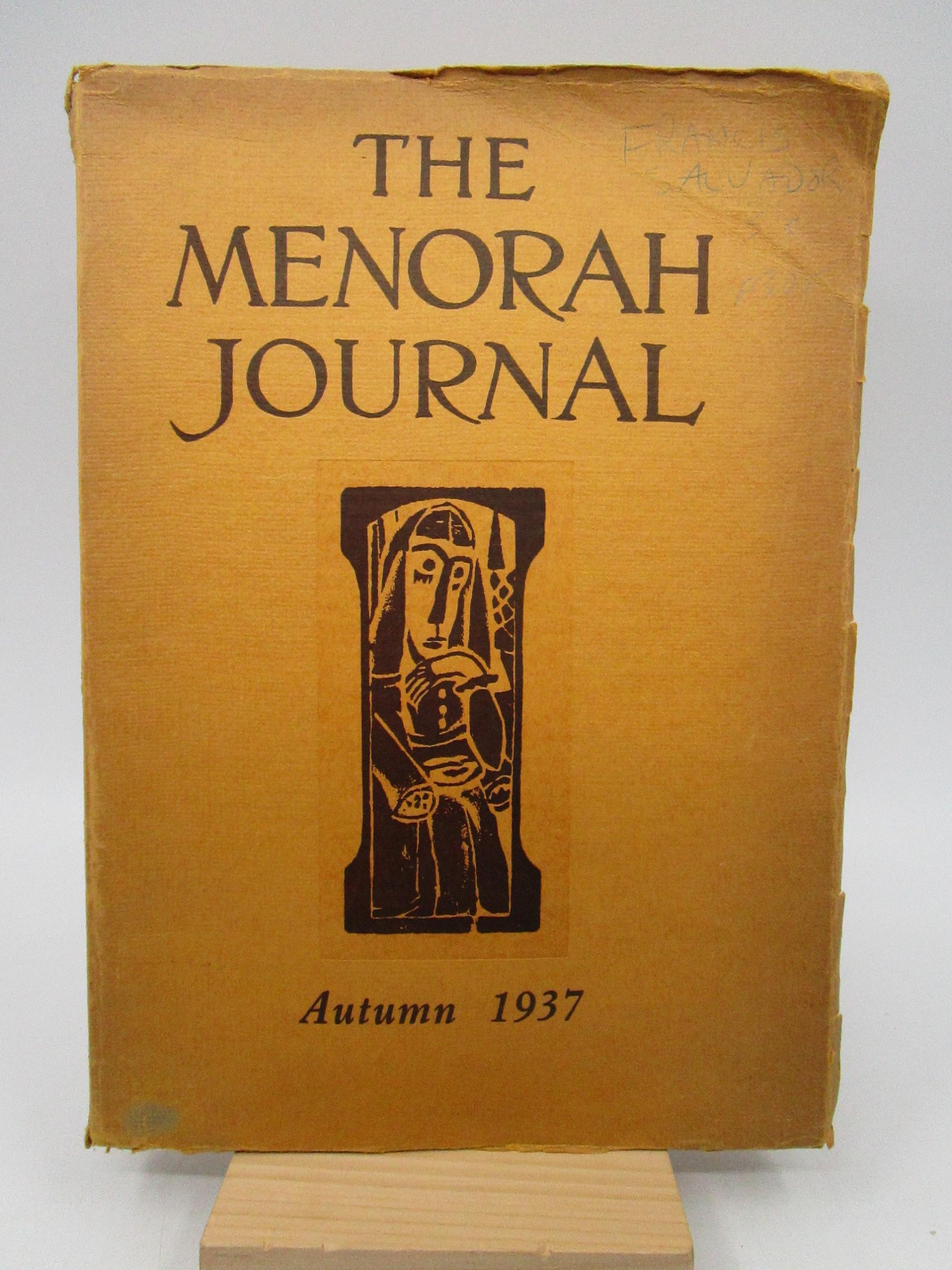 Image for The Menorah Journal Vol. XXV October-December, 1937 Number 3