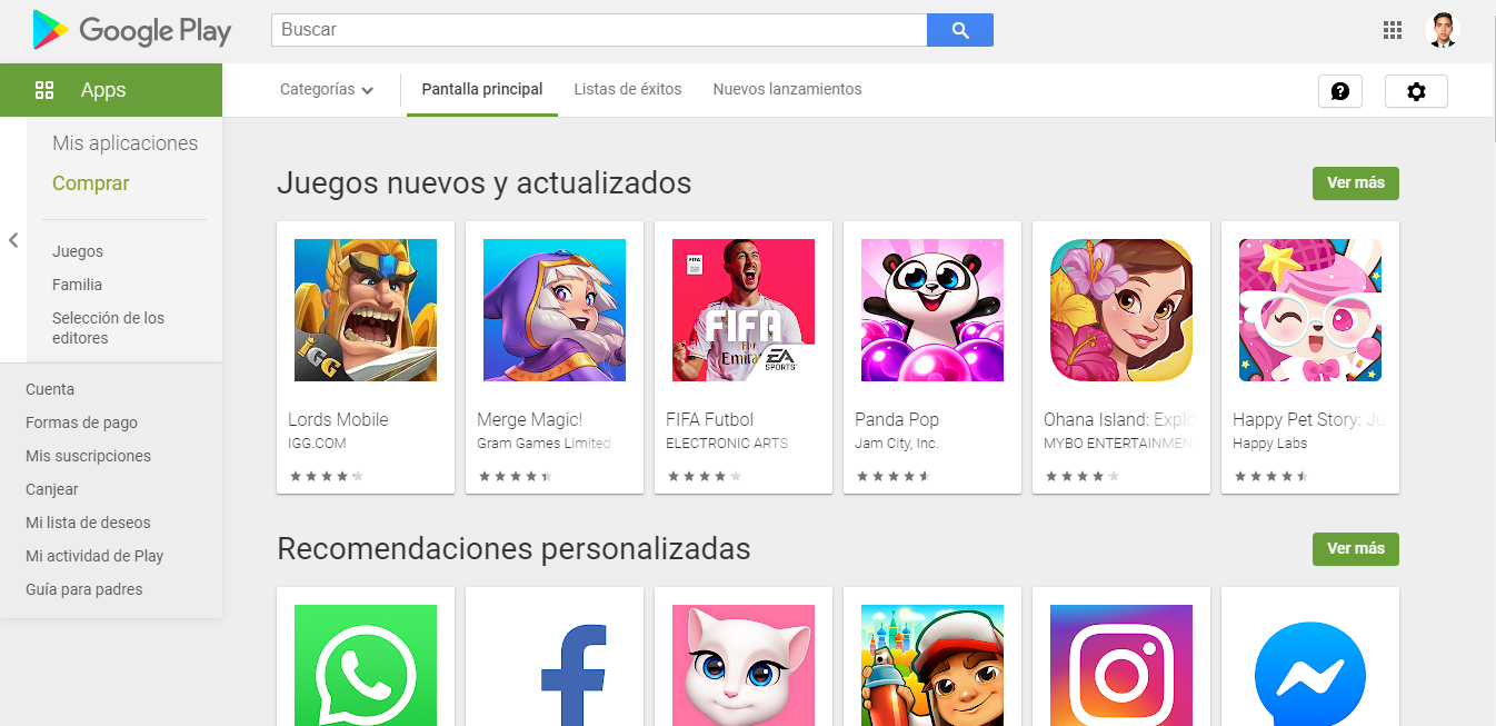 Google Play is the official store to download Android apps