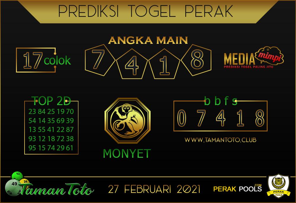 Prediksi Togel PERAK TAMAN TOTO 27 FEBRUARI 2021