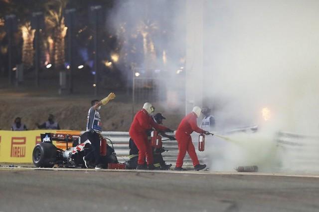 F1 GP de Bahreïn 2020 : Victoire  Lewis Hamilton  Grosjean-Haas-1