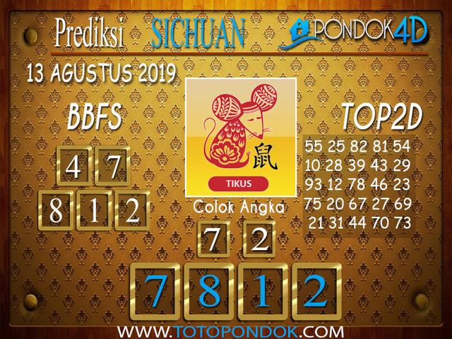 Prediksi Togel SICHUAN PONDOK4D 13 AGUSTUS 2019