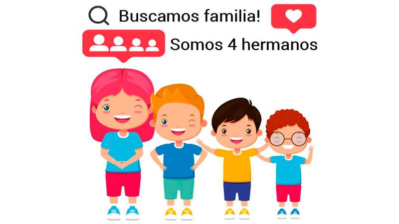 CONVOCATORIA NACIONAL (COPNAF) : 4 hermanitos entrerrianos esperan para ser adoptados