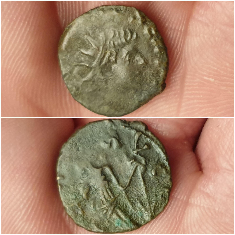 Antoniniano  de Tétrico II, cuño bárbaro. SPES AVGG. Spes estante a izq. 20200104-221117