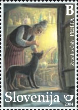 Slovenia stamps CHILD-S-BOOK-FIGURE-PEHTA